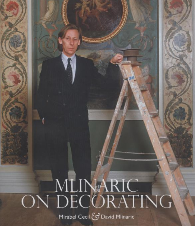 Book cover art for MLINARIC ON DECORATING by Mirabel Cecil and David Mlinaric